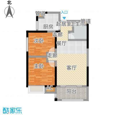 恒天国际城85.60㎡18B户型2室2厅