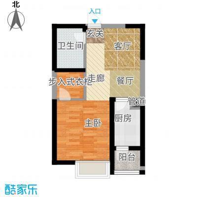 阳光台36556.21㎡14号楼C户型1室1厅