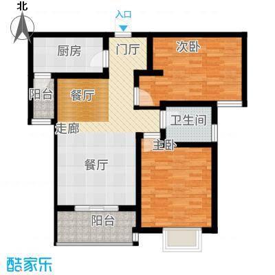 曲江国风世家92.84㎡G3户型2室2厅