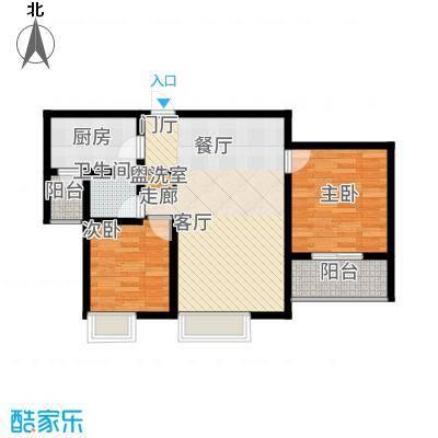 曲江国风世家90.60㎡D户型2室2厅