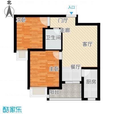 曲江国风世家77.39㎡C2户型2室2厅