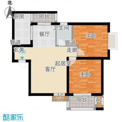铭城国际社区95.21㎡3-3号楼4号楼5号楼B户型2室2厅