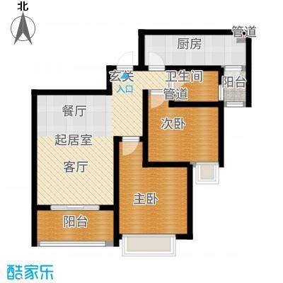 铭城国际社区94.78㎡2、3、4号楼3、6号楼A户型2室2厅
