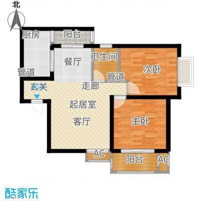 铭城国际社区95.21㎡3-3#、4#、5#B户型2室2厅