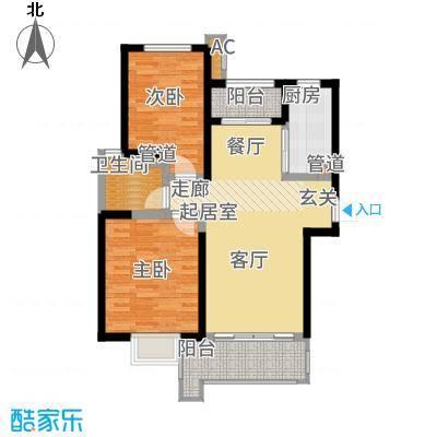 铭城国际社区95.29㎡6号楼D户型2室2厅