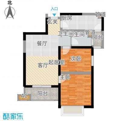 铭城国际社区85.20㎡10、11、12号楼D户型2室2厅