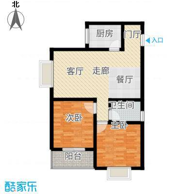 曲江国风世家88.90㎡G2户型2室2厅