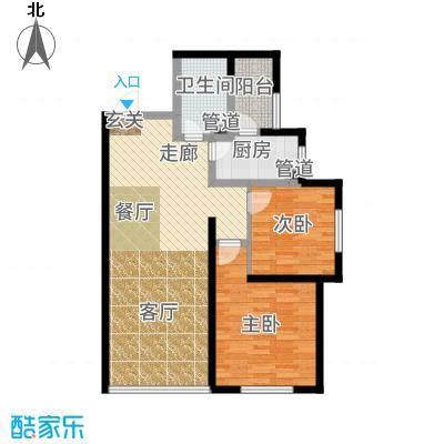 国润城83.60㎡5号楼A1-3户型2室2厅