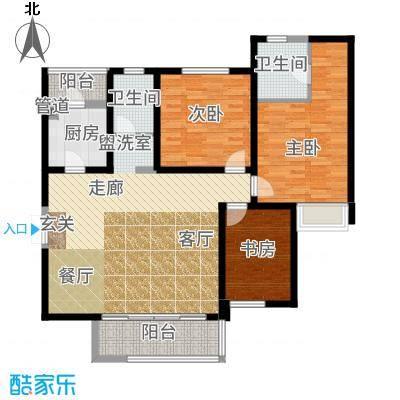 国润城117.14㎡5号楼A1-1户型3室2厅