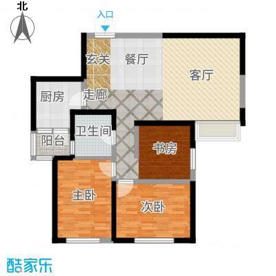 国润城94.51㎡6号楼F1-3户型3室2厅