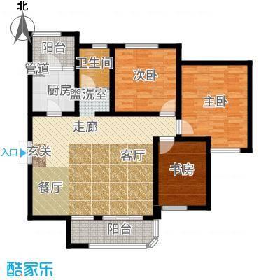 国润城107.84㎡5号楼A1-2户型3室2厅