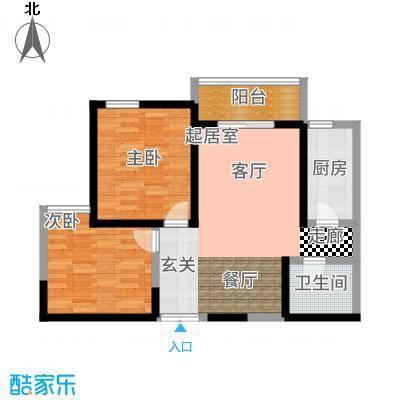 汉庭香榭92.15㎡1-F户型2室2厅