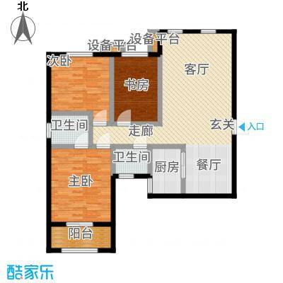 学府街区124.34㎡户型2室2厅