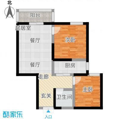汉庭香榭83.21㎡2-D户型2室2厅