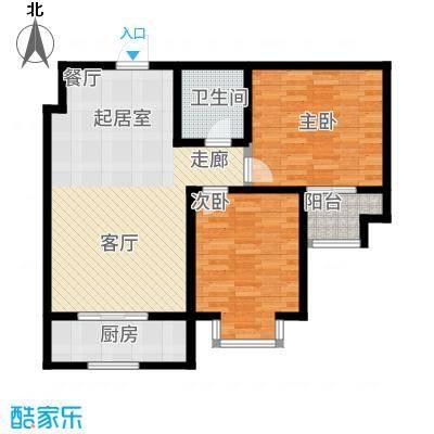 辰龙香树湾85.00㎡户型2室2厅