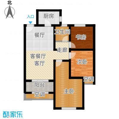 高科麓湾国际社区89.00㎡高层GB2户型3室2厅