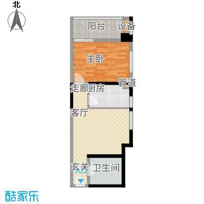 晶鑫华庭62.90㎡C1户型1室1厅