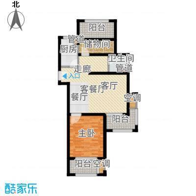 高科麓湾国际社区78.00㎡一期高层B4户型2室2厅