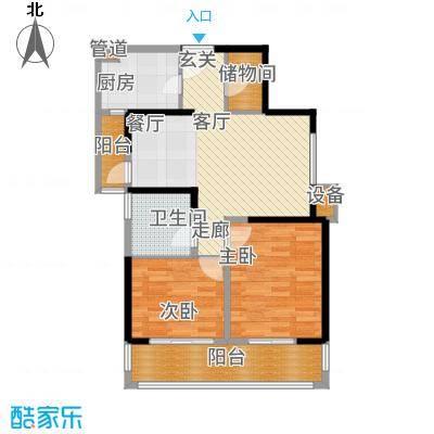 晶鑫华庭83.00㎡E户型2室2厅