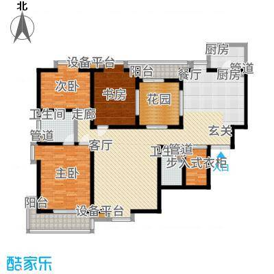 兴庆宫169.00㎡1号楼B1户型3室2厅