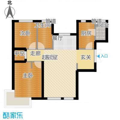富力津门湖89.23㎡江湾广场1号楼1单元01/04户型2室2厅