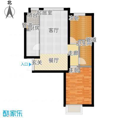 富力津门湖89.09㎡江湾3号户型2室2厅