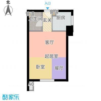 中海紫御华府·中海派51.00㎡G户型1室1厅