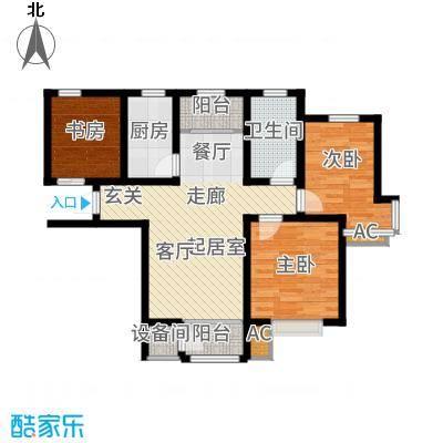 钱隆学府89.83㎡标准层L户型2室2厅