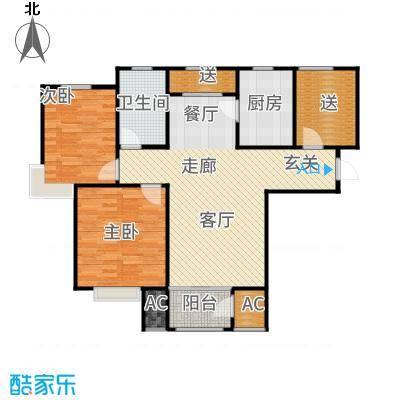 钱隆学府90.63㎡二期高层产品标准层A户型3室2厅