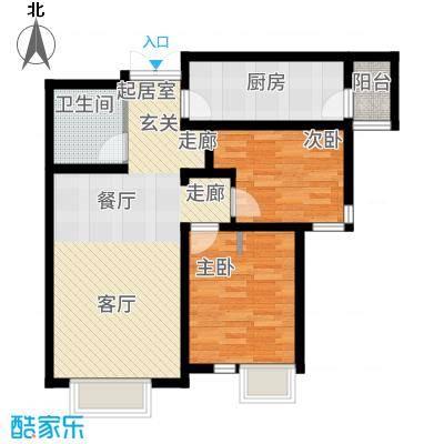 富力津门湖89.95㎡A6地块高层标准层3号楼03户型2室2厅