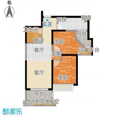天津碧桂园90.00㎡高层C户型2室2厅