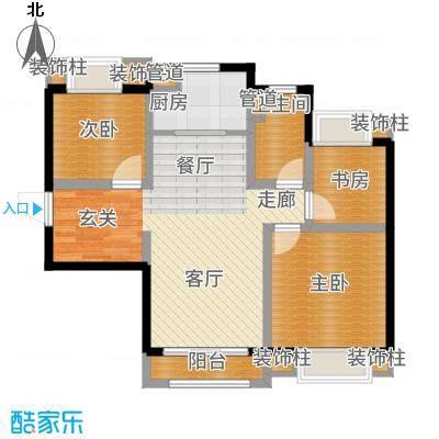 天津碧桂园91.00㎡J465D户型3室2厅