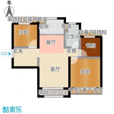 天津碧桂园91.00㎡高层标准层J465D户型3室2厅