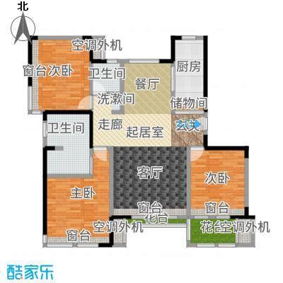 复地温莎堡洋房标准才C户型3室2厅