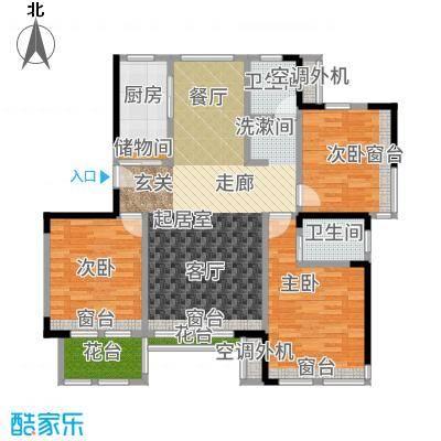 复地温莎堡小高层标准层B1户型3室2厅