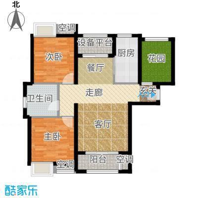保利玫瑰湾92.00㎡标准层B3户型2室2厅