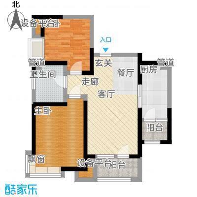 欧铂城91.90㎡高层14号楼标准层02户型2室2厅