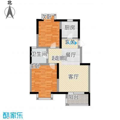 武清五一阳光85.00㎡1号楼标准层DM户型2室2厅