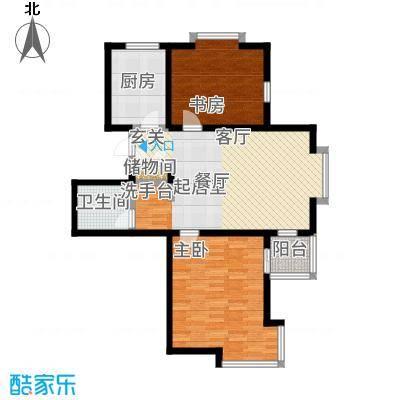 武清五一阳光89.00㎡二期高层标准层B2户型2室2厅