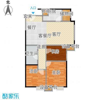 天津津南新城90.00㎡3居室户型3室1厅