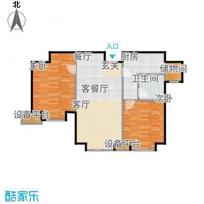 天津津南新城90.00㎡A地块高层10、12、13、19号楼A02户型2室2厅