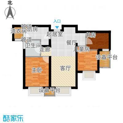天津津南新城90.00㎡6号楼D02户型3室2厅
