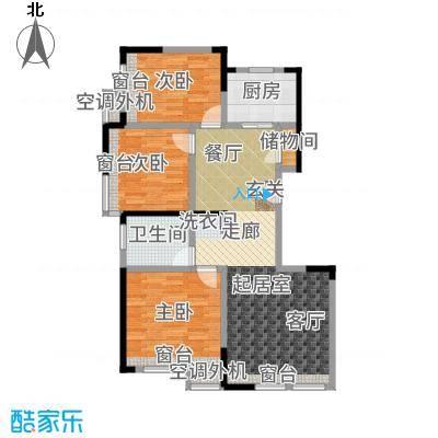 复地温莎堡小高层标准层B2户型3室2厅