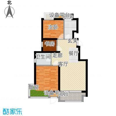金隅悦城93.00㎡小高层标准层B1户型3室2厅