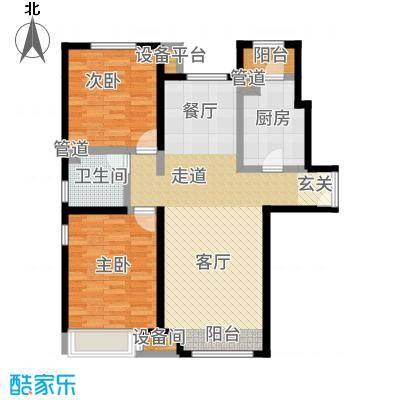 泰达城河与海高层标准层户型2室2厅