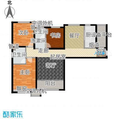 海河大观130.00㎡高层标准层户型3室2厅