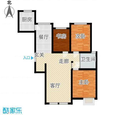 金泰丽湾120.77㎡小高层11号楼标准层C9户型3室2厅