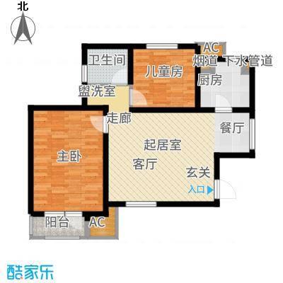 天津雅颂居93.48㎡高层标准层G01户型2室2厅