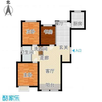 金泰丽湾121.97㎡小高层标准层C1户型3室2厅