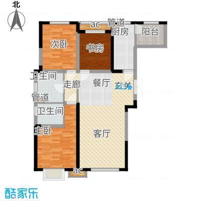 金泰丽湾115.17㎡二期标准层D1户型3室2厅